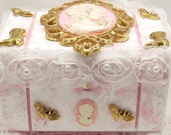 Shabby Chic Cameo Jewelry Box