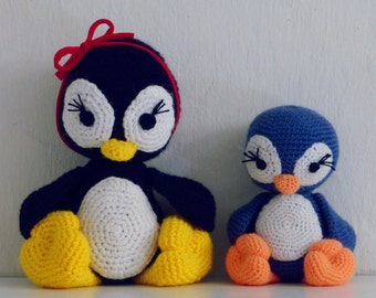 Amigurumi Crochet Pattern Penguin PDF - Penguins amigurumi Toy crochet pattern - Instant DOWNLOAD