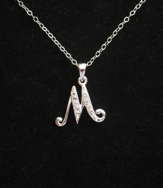 m letter in silver - photo #23
