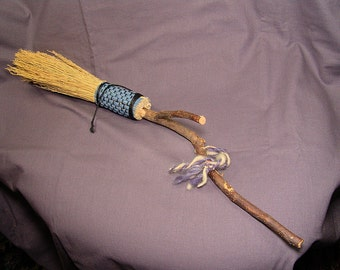 "20"" Long Hand Fasting Besom Hearth Broom"