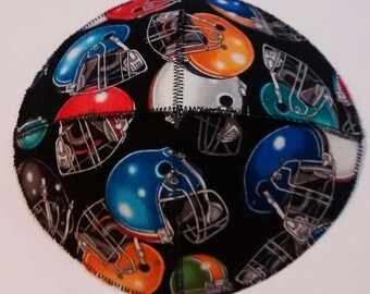 Football Helmets Saucer Kippah Yarmulke Colorful