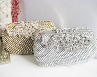 Wedding Bag Clutch Formal Evening Bag with  Loads of Sparkle