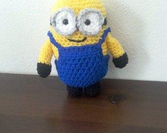 Bob the minion, crochet minion , minion movie, Minion doll