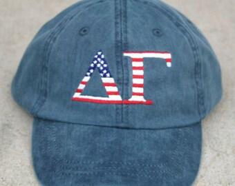 Delta Gamma American Flag Cap