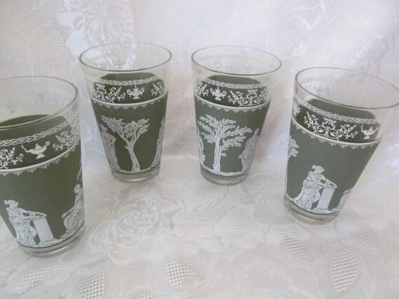 Jeanette Glass Green Wedgewood Hellenic Jasperware Water