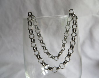 "9 3/4"" Silver Chain Anklet"