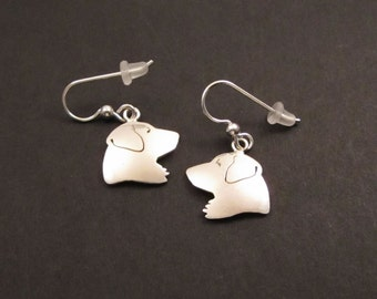 Golden Retriever Silver Earrings