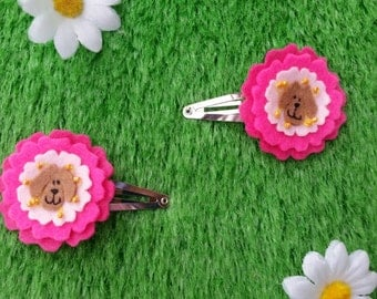 Dog rose hair clips (1 pair) by Sausage Cats