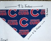Chicago Cubs Dog Collar Bandanna/Scarf - Small