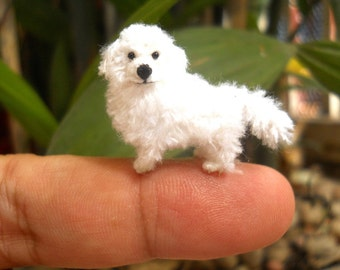 Great Pyrenees - Tiny Crochet Miniature Dog Stuffed Animals - Made To Order