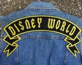 Embroidered large Disney World or custom banner patch for back of Jackets shirts