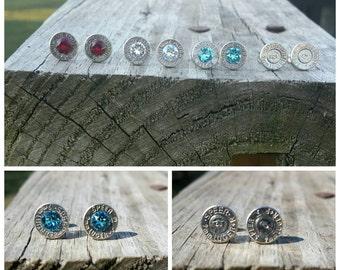 Genuine Swarovski Crystal Birthstone Bullet Earrings