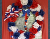 Patriotic Red White Blue Wreath 4th of July