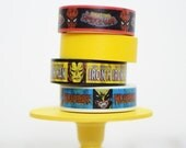 Marvel Super Heroes Washi Tape Spiderman / Iron Man / Wolverine Washi Tape Set of 4 Coordinating Designs