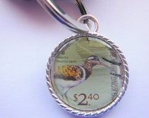 Greater Painted Snipe Postage Stamp Keyring