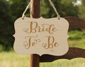 Bride To Be Sign Bridal Shower Sign Rustic Bridal Shower Bride Chair Sign