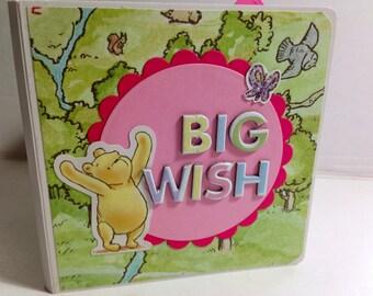 Birthday scrapbook winnie the pooh  Party premade pages chipboard mini album birthday girl