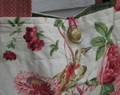 Bird themed Large Linen Bag // Weekender Bag //  Stylish tote bag// Pastel Linen