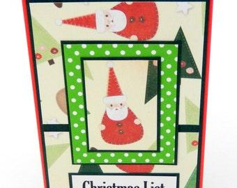 Santa Clause: Mini Spiral Memo Pad 3 x 5 inches