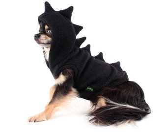 Dog Costume Black Dinosaur Dog Hoodie
