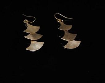 Pagoda Earrings Brass