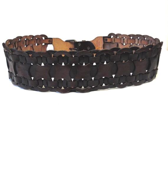 corset belt leather wide brown warrior xl