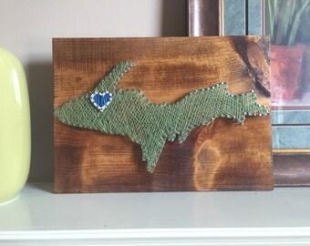 Custom Upper Peninsula String Art (made to order)
