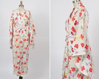 vintage kimono/ cotton kimono robe