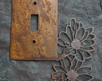 Rustic Flowers Single Light Switch Cover