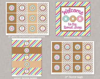 Donut Birthday Party, Donut Birthday Decorations, Donut Shop