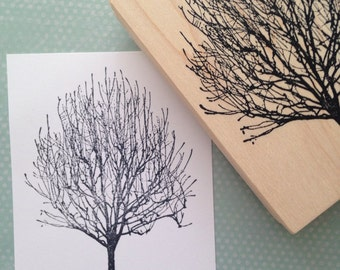 Bare Winter  Tree Rubber Stamp 3265