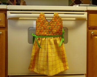 Pumpkin Squares - Hanging Kitchen Towel