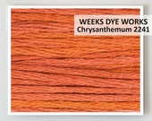CHRYSANTHEMUM 2241 Weeks Dye Works WDW hand-dyed embroidery floss cross stitch thread at thecottageneedle.com