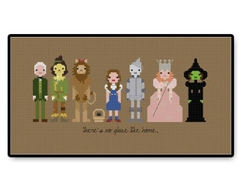 The Wizard of Oz - Cross Stitch PDF Pattern