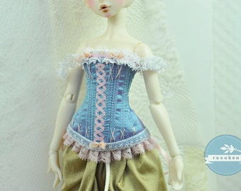 Sweet Summer Kiss BJD Antique Line Corset for Once Upon a Doll Elles