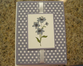 Polka Dot Floral Card