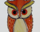 Stained Glass Sun Catcher  - Spotted Owl, Barn Owl, Horned Owl, Original Design