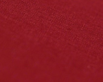 Red linen fabric by half yard