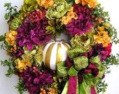 Autumn Wreath, Fall Wreath, Pumpkin Wreath, Halloween Wreath, Winter Wreath, Thanksgiving Wreath, Christmas Wreath, Christmas Door Wreath