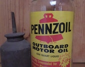 RESERVED//Pennzoil Glass Motor Oil Bottle // with Z-IP!