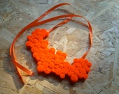 Felt Orange Bib Necklace - Custom Listing for Juli