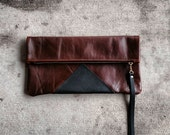 The Madison fold over leather clutch