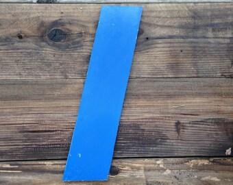L - Reclaimed metal letter - aluminum