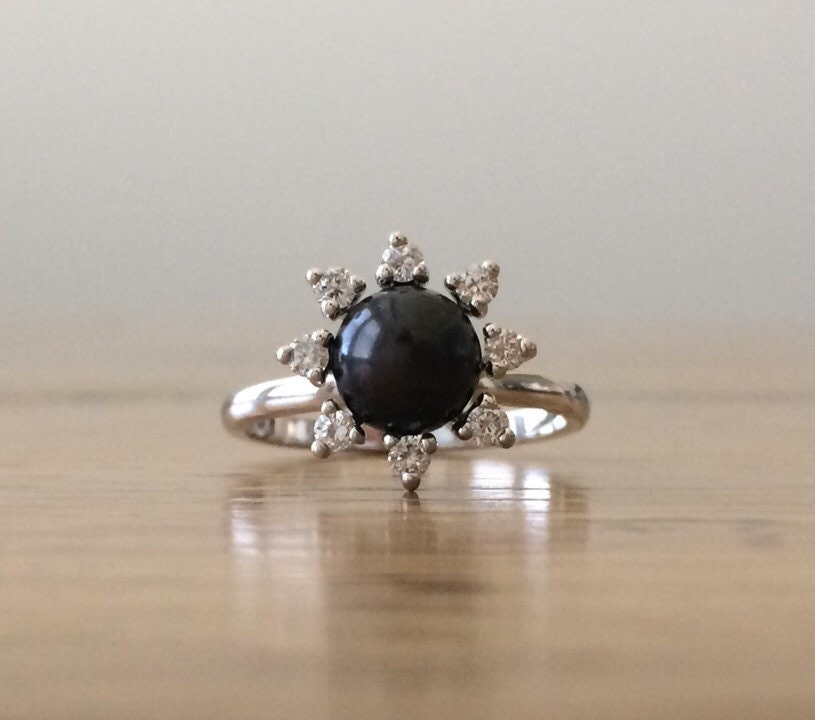 black pearl ring pearl and ring gold pearl ring