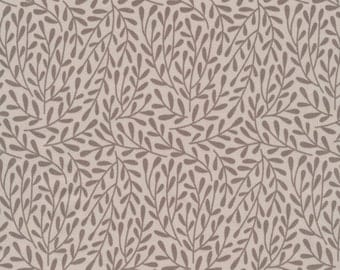 Morning Song Dancing Vines in Taupe, Elizabeth Olwen, 100% GOTS-Certified Organic Cotton, Cloud9 Fabrics, 130050