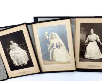 Vintage Victorian Photos: Antique Wedding Photo, Antique Photos, 3 Instant Ancestors
