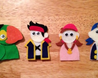 Jake & the Neverland Pirates finger puppets set 1