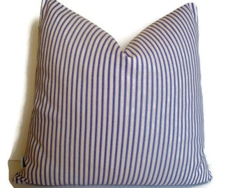 Purple Ticking Pillow Cover Purple Stripe Pillow Cover