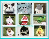 Animal or Character Child's HOODED TOWEL / Super Soft / Custom Made for You