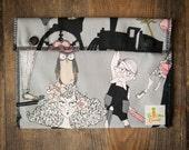 Reusable Large Snack Sandwich Bag Snap Down - A Ghastlie End - Alexander Henry